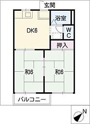 平和ハウス[1階]の間取り