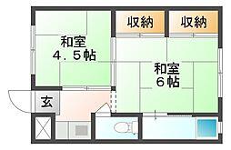 ビレッジハウス一宮 2号棟[1階]の間取り