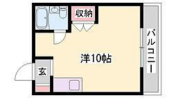 JR播但線 京口駅 徒歩7分の賃貸マンション 3階1Kの間取り