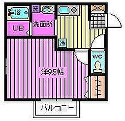 埼玉県さいたま市浦和区領家2丁目の賃貸アパートの間取り