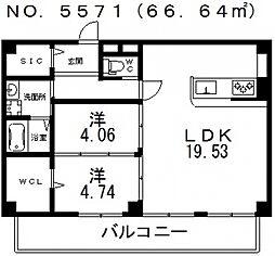 セレッソ寺田町[401号室号室]の間取り