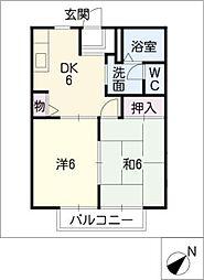 ソシア城下[2階]の間取り