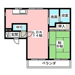 大野コーポ[2階]の間取り