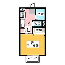 エクセルB棟[1階]の間取り