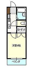 コーポクェストII[2階]の間取り
