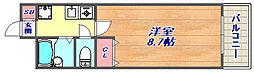 本山コルティーレ[305号室]の間取り