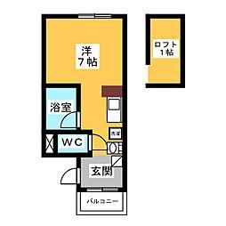 ビューハイツI[1階]の間取り