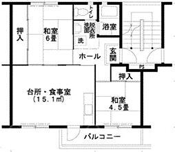 UR泉北桃山台1丁団地[5階]の間取り