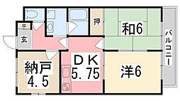 ケスハイツ一色[103号室]の間取り