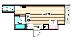 コーポ佑起[1階]の間取り