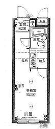 神奈川県横浜市磯子区磯子2丁目の賃貸マンションの間取り