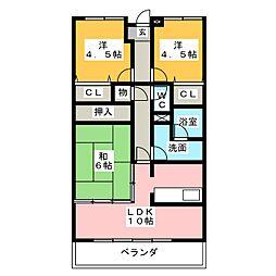 ロイヤルマンション津南[2階]の間取り