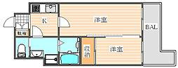 グランフォーレPRIME博多(グランフォーレプライム博多)[2階]の間取り