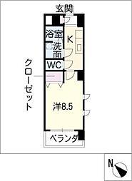 ミ カーサ・キタ[3階]の間取り