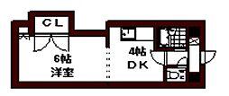 エンドレス三井南5条I[00302号室]の間取り
