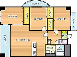 パークサイド黒崎(特定優良賃貸住宅)[2階]の間取り