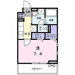 ドミール関空弐番館[3階]の間取り
