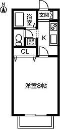サン・friends安田III[102号室]の間取り
