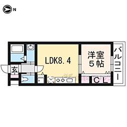 京阪本線 龍谷大前深草駅 徒歩7分の賃貸マンション 4階1LDKの間取り