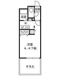 MODULOR三軒茶屋II[102号室]の間取り