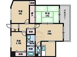 桃山台パレス・モミの木[302号室]の間取り