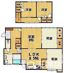 [一戸建] 福岡県福岡市中央区小笹4丁目 の賃貸【/】の間取り