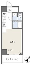 NK103 4階ワンルームの間取り