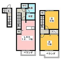 ドリーム21 A棟[2階]の間取り