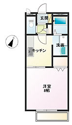 広島県福山市南蔵王町6の賃貸アパートの間取り