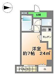 ドゥムール新町[6階]の間取り