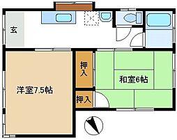 [一戸建] 埼玉県越谷市大字大泊 の賃貸【/】の間取り