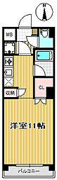 ウェルコート小松島[102号室]の間取り