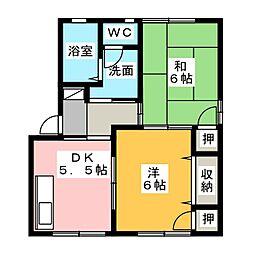 プロシードKEN D[1階]の間取り
