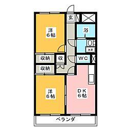 プレミール[3階]の間取り