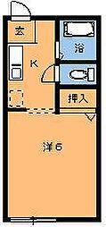 エルカーサ桜木II[103号室]の間取り