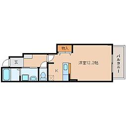 静岡県藤枝市高柳の賃貸アパートの間取り