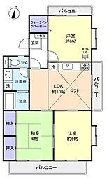 フロンティアII E棟[2階]の間取り