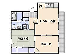 ディアス井口[2階]の間取り