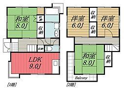 [一戸建] 千葉県富里市七栄 の賃貸【/】の間取り