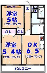 ライトコート[3階]の間取り