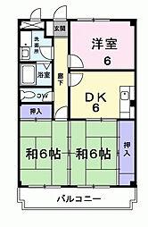 神奈川県相模原市緑区二本松1丁目の賃貸マンションの間取り