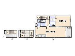 シンシアリー[3階]の間取り