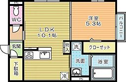 moreplus砂津 (モアプラス)[305号室]の間取り