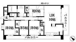サンフル宝塚シティブレス[12階]の間取り