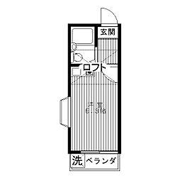富士コーポ[0201号室]の間取り