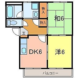 サニーハウス宮腰[205号室]の間取り