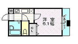 おおきに京橋駅前ビル[6階]の間取り