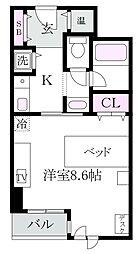 東京都杉並区上荻2丁目の賃貸マンションの間取り