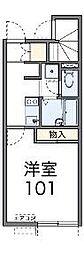 東京都府中市是政2の賃貸アパートの間取り