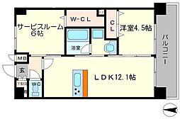 Sincerity大淀(シンセリティ) 8階2LDKの間取り
